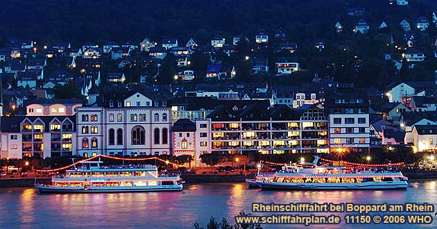 Boat cruise near Boppard on the Rhine River