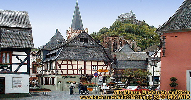Bacharach on the Rhine River, Alte Muenze (old mint)