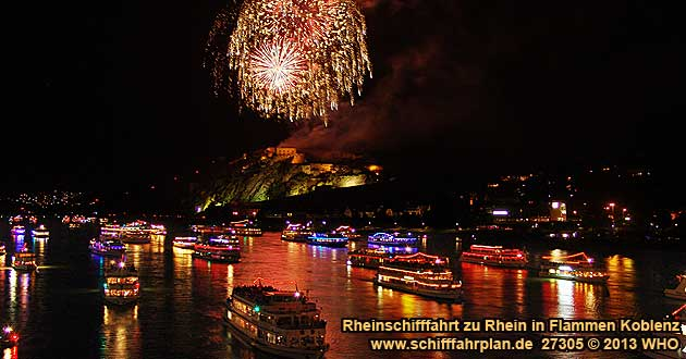 Firework Rhine in Flames near Koblenz ( Coblence on the Rhine River